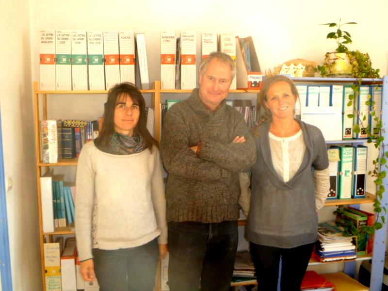 Marie Soubrane, Hervé Buisson et Julie Mougin
