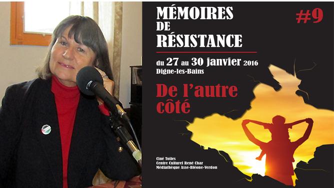 Monique Etienne du Collectif Mémoires de Résistance