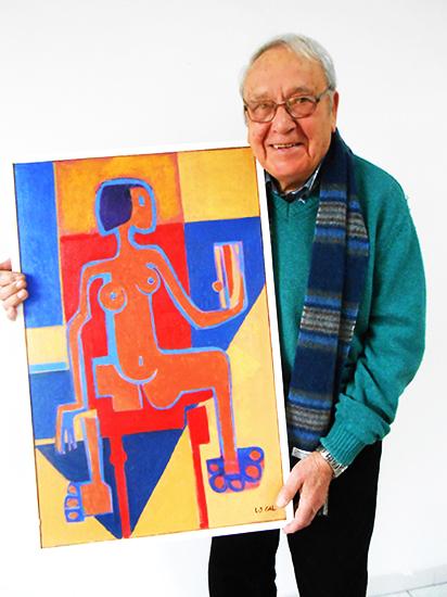 Le peintre Louis-Jean Gal expose
