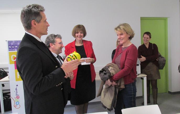 A Digne, inauguration d'une bibliothèque Universitaire dans les locaux de l'Espé.