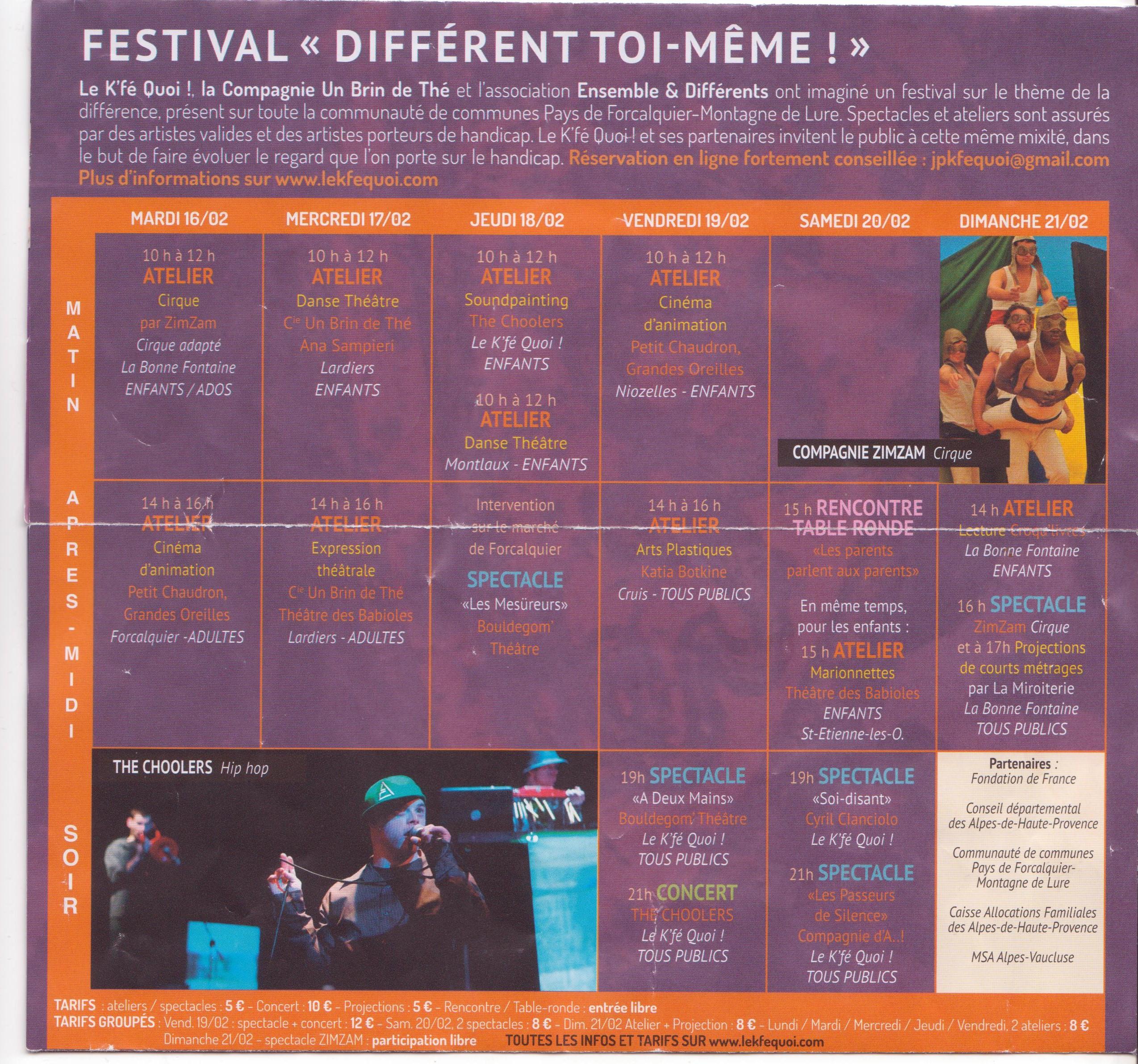 Le Festival « Différent toi-même » s'ouvre aujourd'hui au Kfé Quoi