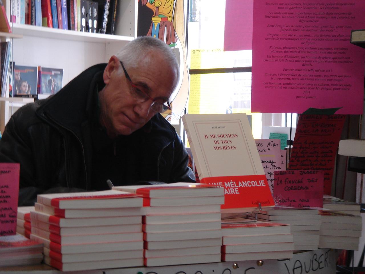 René Frégni signait son dernier livre à la librairie Jaubert de Riez