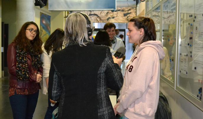 Ses futurs étudiants en visite à l'IUT de Digne-les-bains