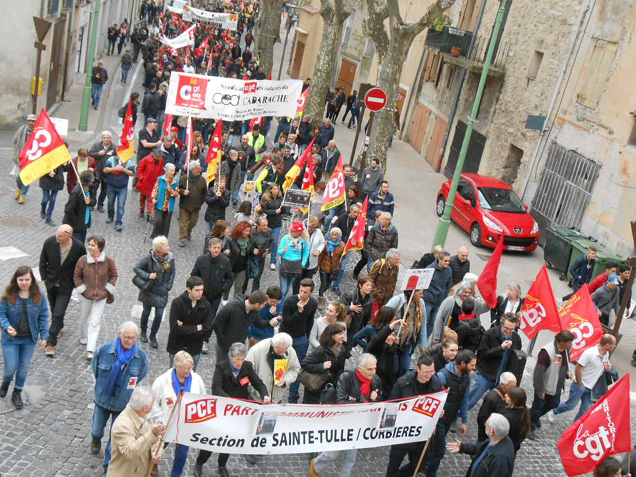 Mobilisation importante contre la loi El Khomri à Manosque