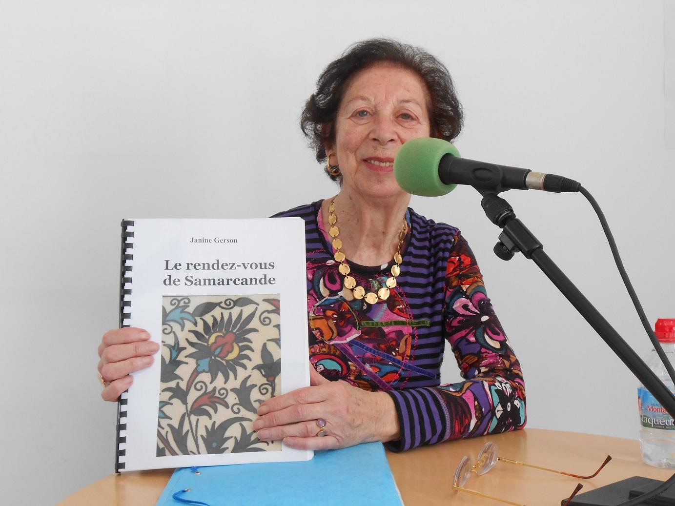 """Janine Gerson publie """" Le rendez-vous de Samarcande """""""