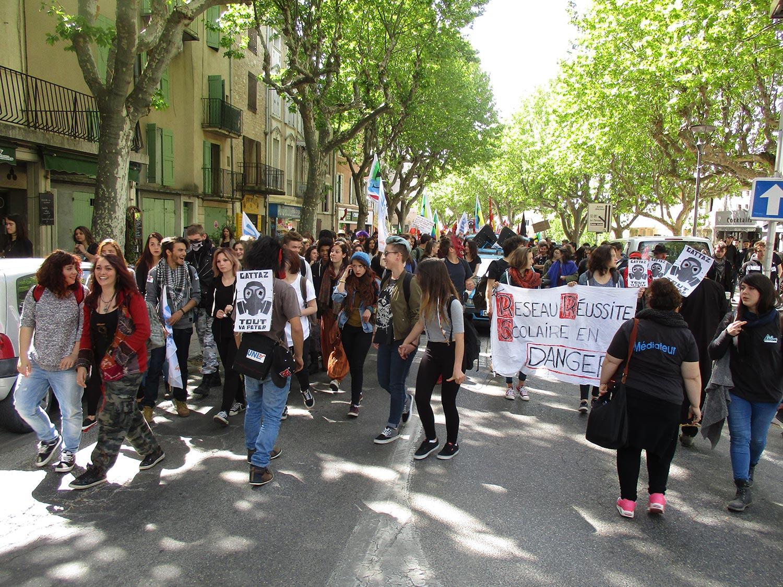 Une manifestation avec des profils divers à Manosque