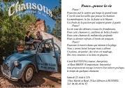 Soirée Chansons pour la vie au Théâtre La Fourmi !