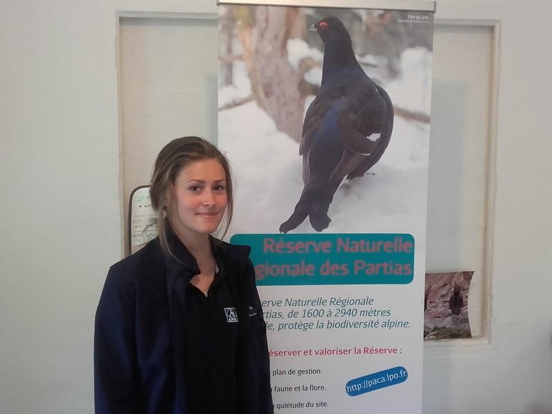 Lisa Wirtz, volontaire à la LPO de Briançon