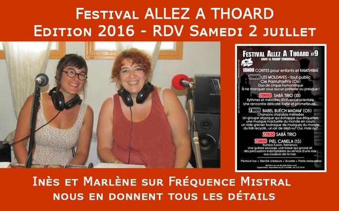 Festival Allez à Thoard ce Samedi 2 juillet 2016