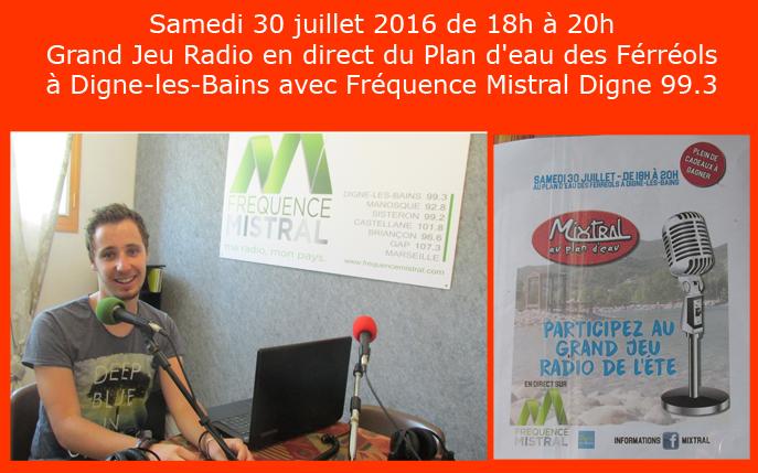 Dimitri Capel Animateur Radio à Fréquence Mistral