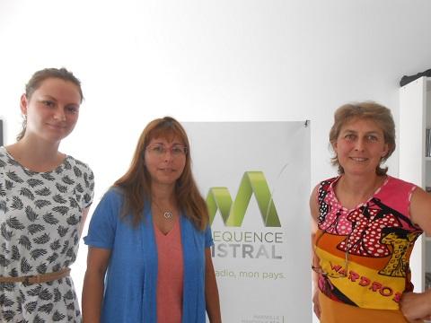 Léa et Virginie Ragot de l'Office de Tourisme et Patricia Pacchiano de Terres de Provence