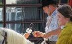 A Maugio dans l'Hérault le public est toujours séduit par la tradition de la fête votive