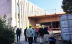 Collège Borrély - le gymnase en construction