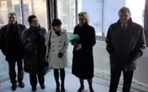 A Digne, visite des travaux de la future maison de la Santé.
