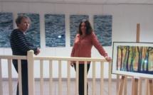 La médiathèque d'Herbès accueille les œuvres de l'artothèque