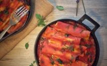 Cannelloni à la brousse des Hautes-Alpes, aux épinards et basilic