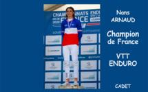 Le dignois Nans Arnaud Champion de France de VTT Enduro