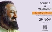 Une Masterclass  avec Sri Sri Ravi Shankar organisée ce dimanche par l'Art de Vivre