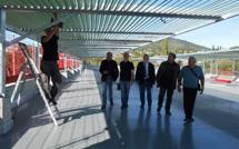 Dernière visite de chantier au parking de La Villette de Manosque. Il pourrait ouvrir fin novembre.