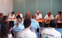 """Présentation du dispositif """"Eco-gardes"""" à Esparron-de-Verdon. Les éco-gardes vont veiller sur le Verdon."""