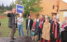 La première pierre de l'Eco-Campus de Sainte-Tulle a été posée hier.